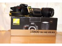 Nikon D5600 24.0MP Digital SLR Camera - Black (Kit w/ AF-S VR 18-140mm Lens)