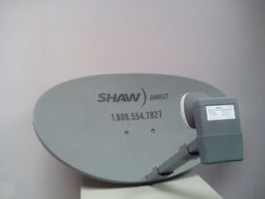SHAW DIRECT SATELLITE DISHES, LNB'S, RECEIVERS