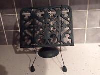 Cast iron recipe book stand