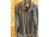 Abercrombie shirt, navy and white check, long sleeve excellent condition