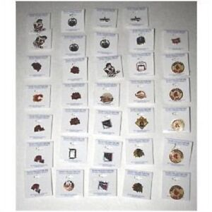 Lot of 34 NHL Team collector pins from the early 90's