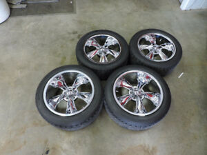 FOOSE LEGEND RIMS AND TIRES, 17 AND  18 INCH ! 5X4.5 BOLT