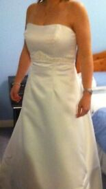Mori Lee ivory wedding dress