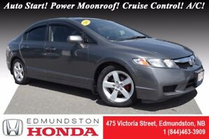 2009 Honda Civic Sedan LX-Sport Auto Start! Power Moonroof! Crui
