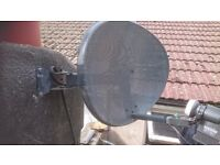 Satellite Kit - Receiver - Dish ( Quad LNB) and cable (Dual) - ICECRYPT S1600CHD
