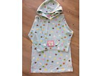 Joules girls beach hoody, 7-8 years