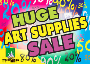 Art Supplies Blowout Sale at Pro-Graphics