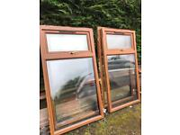 UPVC Double glazed windows, wood effect