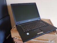Toshiba 15 Inch laptop - Windows 7, Intel CPU 1.86Ghz, 160GB, Working battery, Office 2007 Pro