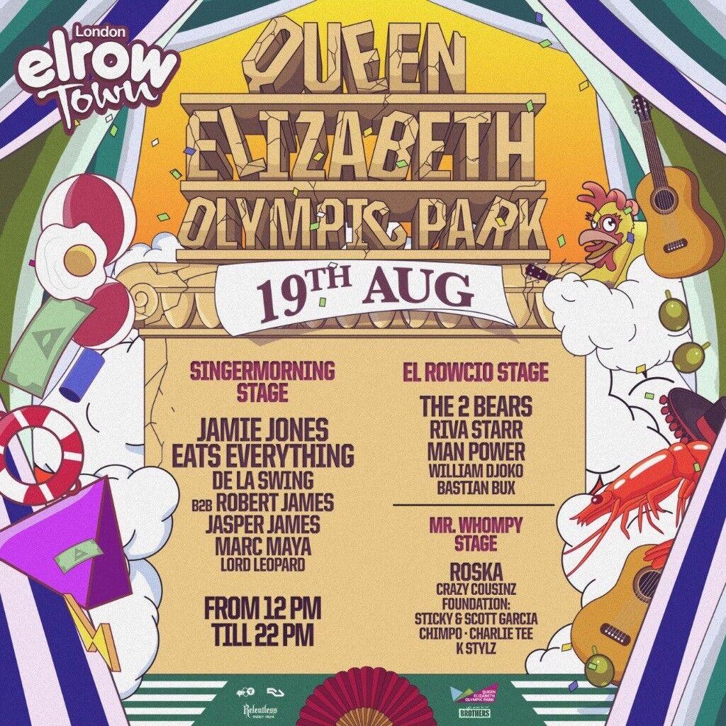Elrow Saturday 19th August Tickets x2! £90 each!!