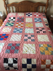 HAND MADE QUILT- DOUBLE QUEEN SIZE