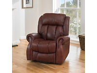 Riser Recliner Chair. Superb comfort, larger size, luxury chestnut leather, dual motor. As new.