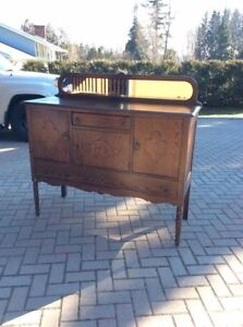 ANTIQUE BUFFET/SIDEBOARD WITH MIRROR