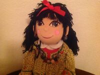 Rare 30 inch Rosie and Jim rag dolls, excellent condition.