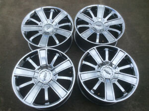 High country 20 inch chrome rims