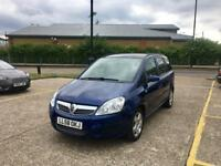 2009 VAUXHALL ZAFIRA 1.6 Exclusiv, Petrol, Blue, Long MOT, Only 70K Warranted Mileage, 7 Seater