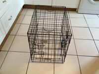 Small dog cage new condition folds down with handle for easy carrying