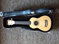 Kala KA-FMS Soprano Ukulele with hard case