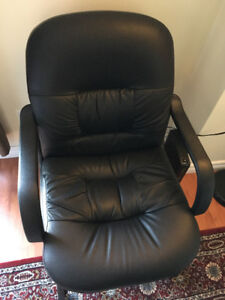 Leather Chair Set