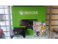 Xbox one 500gb one controller 2x games