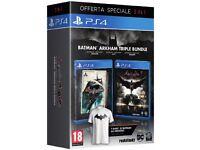 3 GAMES PS4 BATMAN ARKHAM BUNDLE PS4 PRO, PS4 ENGLISH NEW