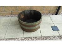 Barrelled planter...bargain in great condition..price dropped to sell