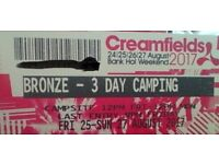 Bronze 3 day Creamfields Tickets ... Best chance of reaching me is to phone my mobile