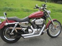 Harley Custom Sportster 1200 in excellent condition and loaded with extras.
