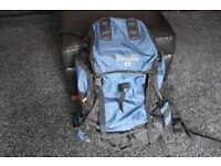RUCKSACK , PRO-ACTION 65 , BLUE , As New , Only used once , only £20