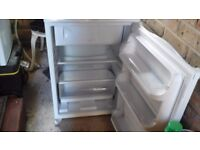 Hotpoint under counter fridge, with freezer compartment. White... Ex. Cond. £60.00.