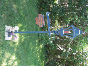 """Welcome Friends"" Wood Handpainted Garden nearly 6 ft. tall"