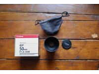 Canon EF 50mm f1.2L Lens