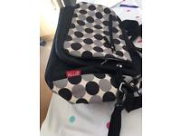 Allis Baby Changing Bag Luxury Nappy Bags, Black Circle