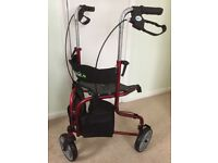 LIGHTWEIGHT, FOLDING TRIWALKER WITH SEAT...NEW