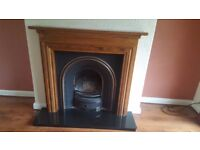Fire place complete of surrond and marble