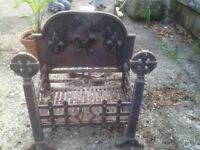 Fire Grate and Ornate backplate - substantial