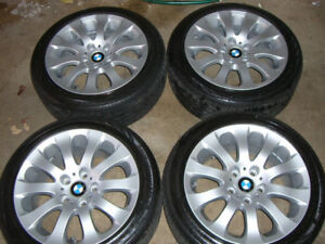 "BMW OEM 17"" rims Continental Contiprocontact SSR tires"