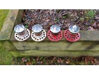 100 Spoke Wire Wheels with Tyres 245/45ZR/17 (x4)