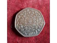 Rare WWF 50p coin
