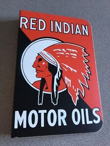 Red indian motor oils 12x8 heavy metal sign