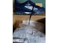 Umbro football trainers size 10 blue white and red.