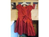 Next red taffeta party dress