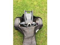 Go Cart Electric golf trolley with battery. Black and pink, 5 yrs old in working order