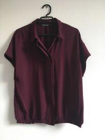 Woman Shirt Size 36 (dark purple)
