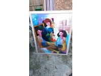 2x large framed paintings