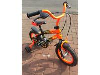 Kids bike with stabilisers