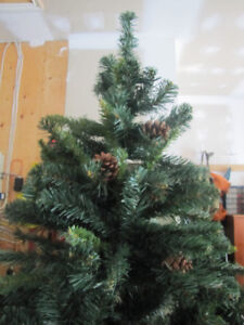 Excellent Value Small Artificial Xmas Tree .. 5 1/2 feet tall