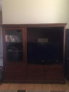 MOVING SALE!! MUST GO!! Solid Wood Entertainment Stand