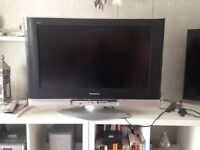 "Panasonic 32"" LCD TV On swivel stand and comes complete with remote control and manual"