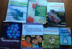 Nursing textbooks + NCLEX prep material